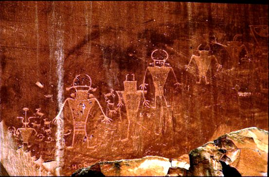 FREMONT CULTURE -ROCK ART AT CAPITOL REEF NATIONAL MONUMENT