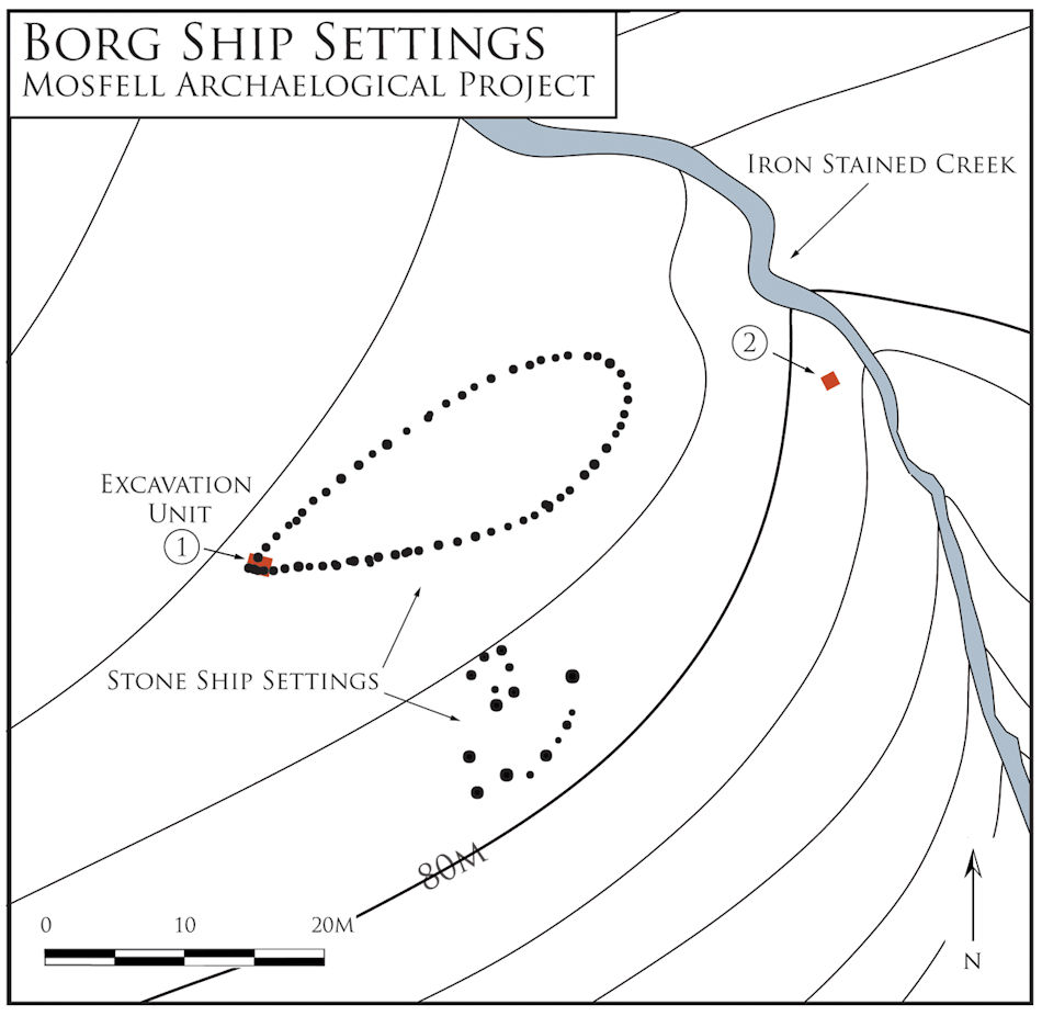Ship-settings in the Mosfell Valley