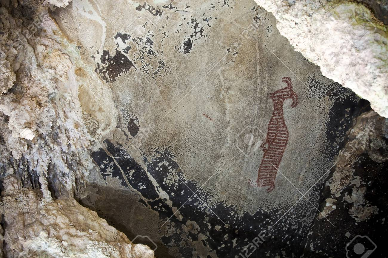 prehistoric-cave-paintings-over-3-000-–-5-000-years-tham-pee-hua-to-ao-luek-krabi-thailand