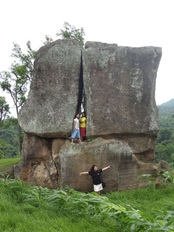 Bondowoso-east Java, Indonesia. Situs Batu Labheng ( a giant Stone door)