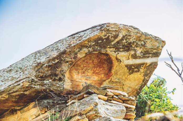 Rock art at Kakai Kandao, Swat, dating back to 1000 BCE and 1200 BCE and are located in Kandak Valley